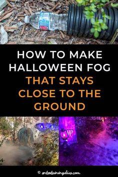Vintage Halloween Poster, Halloween Crafts, Halloween Costumes, Halloween Graveyard Decorations, Diy Halloween Fog, Halloween Yard Ideas, Dry Ice Halloween, Diy Outdoor Halloween Decorations, Halloween College