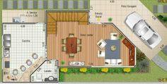 Plano de casa de 2 Pisos - 3 Dormitorios y 167M2
