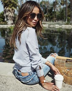 "JULIE SARIÑANA on Instagram: ""Coffee by the lake. ☀️/ Shout out to my girl @nikkilee901 for the sunkissed hair she did on me this weekend @ninezeroone!"""