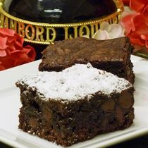 Chambord Raspberry Brownies Recipe - Start with a cake mix to make these fast and rich raspberry brownies.