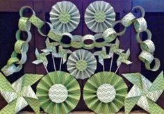 Shop for on Etsy, the place to express your creativity through the buying and selling of handmade and vintage goods. Green Party Decorations, Chevron Paper, Green Chevron, Green Paper, Spa Party, Zig Zag, Picture Show, Party Supplies, Kit