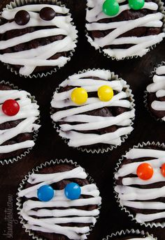 Low-Fat Chocolate Mummy Cupcakes