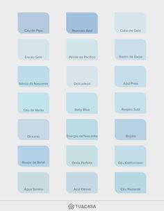 Blue Shades Colors, Blue Paint Colors, Blue Color Schemes, Bedroom Paint Colors, Paint Colors For Home, Room Colors, Cool Color Palette, Paint Color Palettes, Colour Pallete