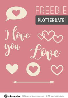 Valentinstag DIY Freebie Plotterdatei