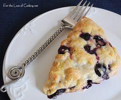 Blueberry Scones w/Lemon Glaze