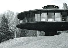 Richard Foster House - 1968  Wilton, Ct., USA  House rotates 360 deg. at the push of a button, for maximum views!