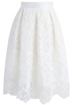 Charming Honeycomb A-Line Midi Skirt in White - Retro, Indie and Unique Fashion