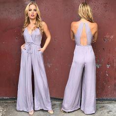 Graceful Lilac Jumpsuit