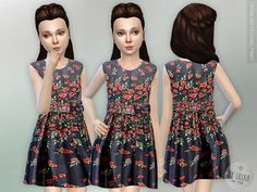 Sims 4 CC's - The Best: Floral Print Dress by Lillka