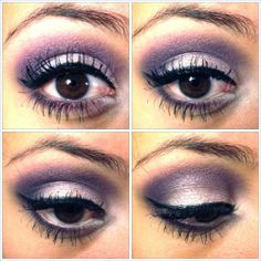 Purple makeup for brown eyes.