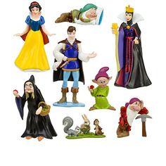 Disney Snow White and the Seven Dwarfs Figure Play Set Snow White Characters, Snow White Dwarfs, Snow White Cake, Snow White Evil Queen, Snow White Birthday, Disney Princess Snow White, Seven Dwarfs, 7 Dwarfs, Disney Figurines