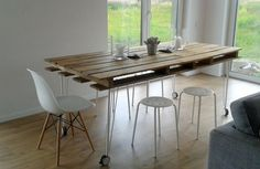 DIY Pallet proejcts That Are Easy to Make and Sell ! Rustic DIY Pallet Dining Table