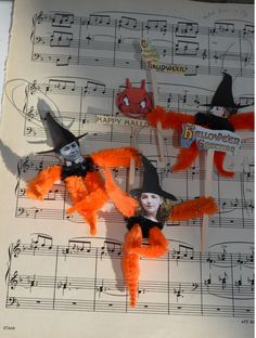 SALE.Halloween bump chenille ornaments.3 by THEVELVETRABBIT, $3.50