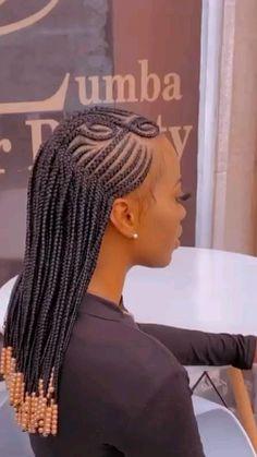 Cornrow Braid Styles, Braided Hairstyles For Black Women Cornrows, Feed In Braids Hairstyles, Braids Hairstyles Pictures, Protective Hairstyles, Black Women Hairstyles, Single Braids Styles, New Braid Styles, Lemonade Braids Hairstyles