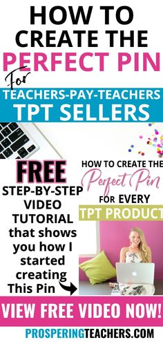 Hey TPT Sellers! Do you want to attract more customers to your store, but haven't figured out how? Are you creating pins that no one sees? I have news... Pinterest is your secret weapon & this FREE step-by-step tutorial provides the first steps you need to create the perfect pin for all of your TPT Products | Create a Pin, Create a Pinterest Pin, Tailwind, TPT Teachers Pay Teachers #pinterestmarketing #tpt #tptseller #tptsellers #tptsellertips #tailwind #teacherspayteachers #tptproducts