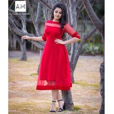 Anupama Parameswaran stills in red dress for launching Mission Interstellar at Wonderla,tollywood new actress,malayalam actress,south hot actress stills Designer Kurtis, Indian Designer Outfits, Designer Dresses, Designer Wear, Fashion Weeks, Indian Long Frocks, Gown Party Wear, Long Gown Dress, Frock Dress