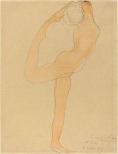 Auguste Rodin Drawings: Dancing Figure, 1905 - Fine Art Print