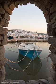 Naousa Harbour, Paros Greece ~ by Cees Bol