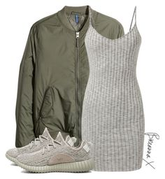 """Untitled #2904"" by breannamules ❤ liked on Polyvore featuring H&M and adidas Originals"