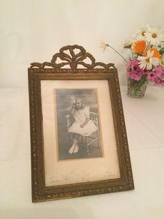 antique frame, bronze and brass, 19th century French vintage handmade de la boutique VintagedeFrance sur Etsy