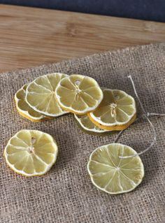 Decorative Dried Lemon and Lime SlicesDried lemon and lime slices are easy to make and the process will leave your kitchen with a wonderful scent. Use them as a pretty addition to an elegantly wrapped gift, or incorporate them into table centerpieces by using ribbon or string to hang slices from candle holders or flower arrangements. Preheat the oven to 200 degrees F. Thinly slice lemons and limes. The thinner they are the faster they will dry (less than ¼ inch slices are best). Place a ...