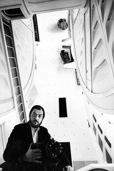 Stanley Kubrick on set of 2001: A Space Odyssey