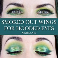 Duochrome Smoked Out Winged Liner Tutorial for Hooded Eyes #duochrome #hoodedeyes #gothicmakeup #smoky #glassskin