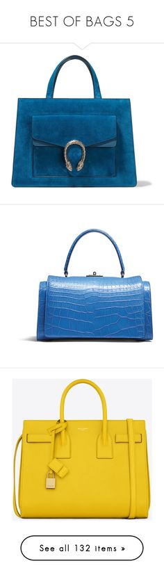 """BEST OF BAGS 5"" by jadiior ❤ liked on Polyvore featuring bags, handbags, tote bags, gucci, purses, сумки, gucci tote, blue tote bags, vintage purses and suede tote bags"