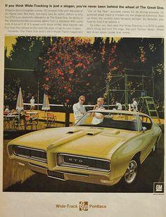 1968 Pontiac GTO ad ~ VK/AF Art ~ The Great One, Vintage Pontiac Ads