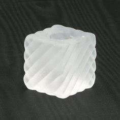Frosted Glass Cube Taper Candle Holders, Set of 12