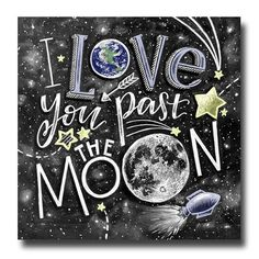 Love You To The Moon And Back Print Love Sign Moon Print