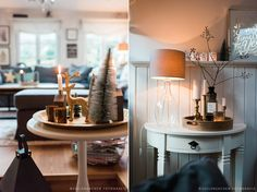 Unser Wohnzimmer bildet heuer die Ausnahme von der Weihnachtsregel ;) . Im Gegensatz zu den anderen Räumen im Seelensachenhaus ist es nicht in rot und weiß geschmückt, sondern in grau, gold und bra…