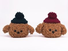 Fluffy Brown Dog Poodle Knitted Airpods Case Airpod Skin Holder Decal Protective Skin Accessories Crochet Silicone Funny Gifts Animals Pom Fluffy Puppies, Dogs And Puppies, Crochet Hooks, Crochet Baby, Lps Dog, Brown Dog, Airpod Case, Mermaid Blanket, Crochet Patterns For Beginners