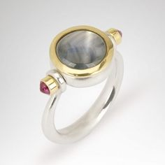 Pivot ring star sapphire and ruby rivet by Abby Mosseri Indian Jewellery Design, Indian Jewelry, Emerald Ring Vintage, Jewelry Design Earrings, Star Sapphire, Ancient Romans, Ring Designs, Opal, Gemstone Rings