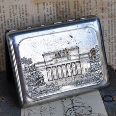 SALE vintage metal cigarette case home decor by CoolVintage