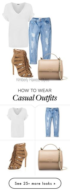 """""""Casual & Chic"""" by kimberlyannhawes on Polyvore featuring River Island, MANGO, Givenchy and WearAll"""