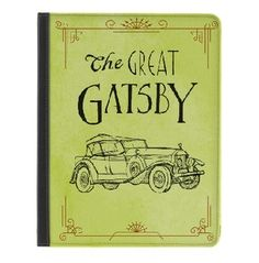 The Great Gatsby-Yellow iPad cover by M-Edge. Really cool covers. I designed a custom one for David