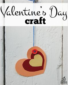 Homeschoolers and Parents we have a fun Valentine's Day craft for kids! It includes a *FREE* heart template printable!