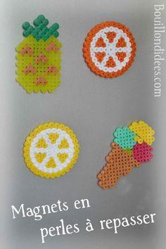 DIY brico Magnets en perles à repasser Hama pour le frigo (Bouillondidees)