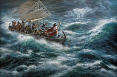 Peace Be Still by James Seward ~ Jesus calming the storm