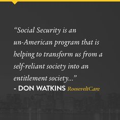 From Don Watkins' new book, RooseveltCare.