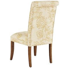 Hand-upholstered in beautiful, linen-blend print, our Angela Deluxe Dining Chair has a tight, self-welted seat and classic rolled back. Durably…