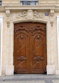 Paris Door Carved Wood Architectural Fine Art Paris France Original Photo Print