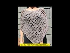 CROCHET TUTORIAL: PONCHO SENCILLO PARTE 1 DE 3 - YouTube