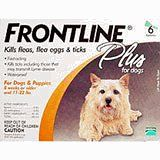 Merial Frontline Plus Flea and Tick Control for 0-to-22-Pound Dogs and Puppies, 6 Doses