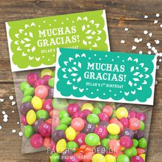 LOVE Fiesta Wedding Shower | Fiesta Bag Toppers  Papel Picado Printable by PaperFoxDesign, $6.50