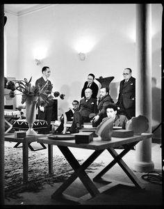 Jean Michel Frank, Diego and Alberto Giacometti, Christian Berard by François Kollar