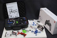 Hubsan X4 H107C Camera Drone Quadcopter + 12 Batteries, Case, 2 Crash Kits NIMB #Hubsan