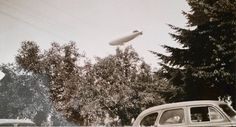 Vintage Photo..It's the Blimp!..1950's Original Photo, Old Photo Snapshot, Vernacular Found, Artistic Altered Art, Americana Everyday Life by iloveyoumorephotos on Etsy
