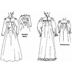 Prairie Dress or Victorian Nightgown Pattern --- http://www.amazon.com/Prairie-Dress-Victorian-Nightgown-Pattern/dp/B002DA2TK4/?tag=zaheerbabarco-20